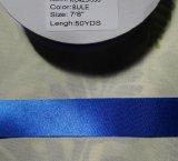【ハードサテン】7/8インチ幅 50ヤード ブルー