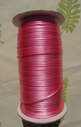 【ラットテールコード】2mm幅 250ヤード ホットピンク(ピンク)